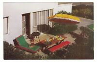 1950s SAN MATEO CA HILLSDALE GARDEN APARTMENTS PATIO VINTAGE POSTCARD CALIFORNIA