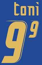 Italy Luca Toni Nameset 2006 Shirt Soccer Number Letter Heat Print Football Home