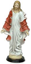 STATUA GESÙ CRISTO STILE BAROCCO IN POLVERE DI MARMO H cm 40