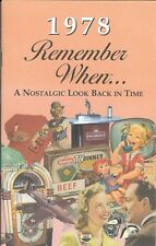 40th Birthday Remember When Book 1978