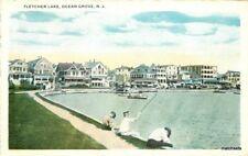 1920s Ocean Grove New Jersey Fletcher Lake Union News postcard 9708