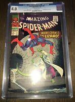 The Amazing Spider-Man #44 CGC Graded 4.0 2nd Lizard (1967) Marvel Comics!!!