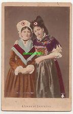 Coloré Photo Du Cabinet Femmes En Alsaciens Costume Alsace Et Lorraine 1880