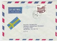 sweden 1981 stamps cover ref 19578
