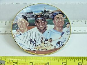 "Sports Impression 4"" mini Plate ""Mickey, Willie & The Duke""-1986 Free Shipping"