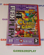 RARE GAMECUBE MAX PLAY 10 RETRO CLASSIC ARCADE GAMES ** NEW FACTORY SEALED **