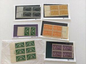 Scott's Q53, QE1, E15,E16, E18, E19 Special Delivery Handling Plate Blocks