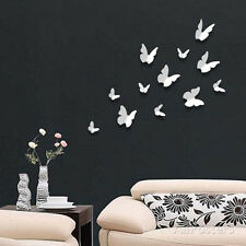 3D Butterflies - White Wall Decal Sticker - 39x39