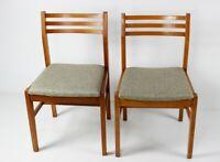 Pair of Retro Danish Style Teak Dining Chairs [5411]