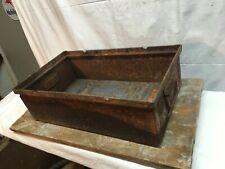 Vintage Steel Parts Bin Tray with Carry Handles Industrial Salvage Garage Repair