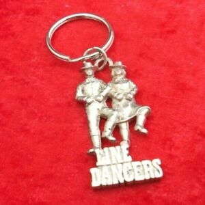 Silver Coloured Line Dancing Key Ring - Clearance - Fun Collectable