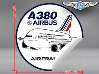 AIR FRANCE PUDGY AIRBUS A380 ROUND DECAL / STICKER