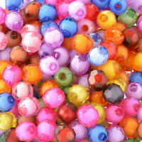300 Mix Rund Böhmen Facettiert Acryl Spacer Perlen Beads Bicone 8mm hello-jew