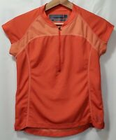 Women's Size M Novara Cycling Jersey Orange 100% Recycled Polyester Made Canada