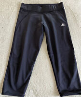 Adidas Climalite Womens Black Running Capri Crop Pants Large