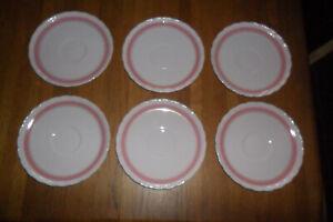 Hutschenreuther - Porzellan - Porcelaine Rose-  6 Unterteller - Konvolut -