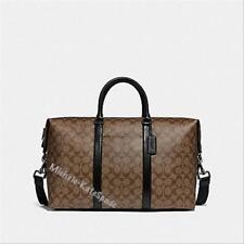$695 NWT COACH  Trekker in Signature Canvas DUFFLE Travel Bag F77922