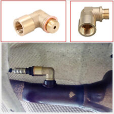 M18 x 1.5 Brass 90 Degree Angled O2 Oxygen Sensor Extension Spacer with Washer