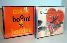 2 MARK HADDON CD Audio Books - Boom & A Spot of Bother