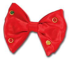 Intermitente roja Pajarita divertido Circo Payaso Joker Dicky Bow Novedad Fancy Dress
