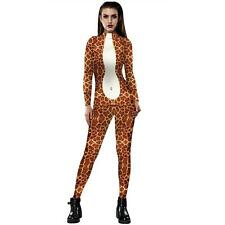Halloween Cosplay Women Jumpsuit Bodysuit Bodycon Fancy Dress Costume Catsuit