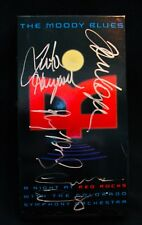 THE MOODY BLUES-Autographed A NIGHT AT RED ROCKS VHS By 4 Members-JUSTIN HAYWARD