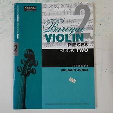 BAROQUE VIOLIN pieces book 2 , richard jones ABRSM