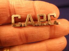 "RARE OLD VTG WWII ERA? STERLING SILVER BAR PIN - ""C.A.P.C."" ROYAL CANADIAN NAVY"