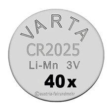 """""""40x CR2025 Lithium Batterien Knopfzellen 3Volt VARTA"""