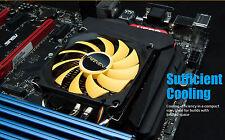Quiet Low Profile 34mm height CPU Cooler HeatSink Intel 1155 56 50 AMD FM2 AM2-3