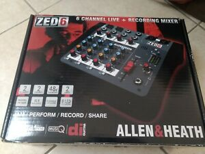 Allen & Heath ZED 6 - 6 channel live + recording mixer