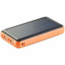 revolt Solar-powerbank 20.000 mAh Solarpanel Led-leuchte 2x USB