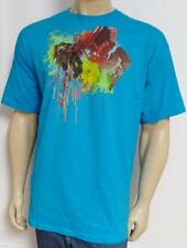 DC Shoes Chaotic Star Drip Turquoise Blue 100% Cotton T-Shirt New NWT Mens XL