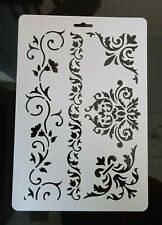 FLOWERS STENCILS A4