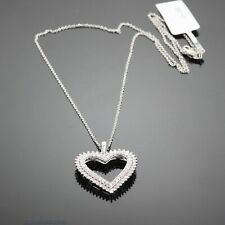 3.00 CT. SI1-G GENUINE DIAMOND HEART PENDANT NECKLACE 14K WHITE GOLD 18 INCHES