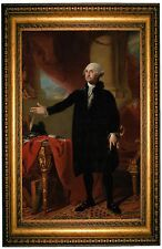 Stuart George Washington Standing 1797  - Gold Framed Giclee Canvas Art M 25x36