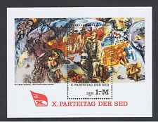 DDR Block 63 postfrisch X. Parteitag SED Mi 2599 Gemälde Womacka