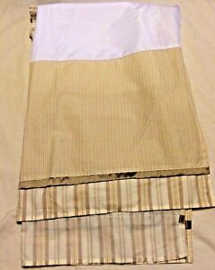 Cocalo Snickerdoodle Baby Nursery Crib Skirt Neutral Pattern Brown Tan Stripes