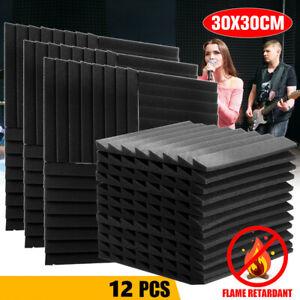 12 Stk 30cmx30cm Akustik Schaumstoff Profilplatten Akustikschaumstoff Absorber