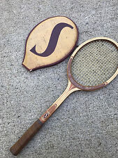 Used Spalding Natural Specialist Tennis Racquet Racket Made in Belgium Vintage