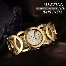Luxury Bling Crystal Gold Lady Women Girl Bracelet Wrist Watch Japan Quartz H0EF