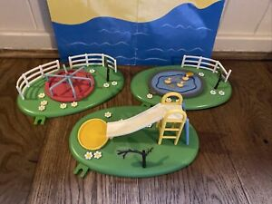 Peppa Pig park / playground  slide & Roundabout & Duck Pond playsets -lots List
