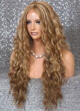 Full Lace Front Wig Blonde Orange Brown Brazilian wavy Hair piece YC 2216