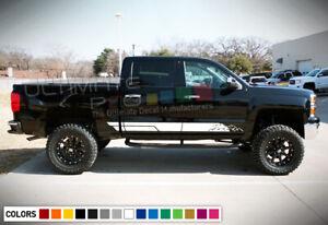 Decal Sticker Side Door Stripes for Chevrolet Silverado 2014-2020 18 Z71 4x4 bar