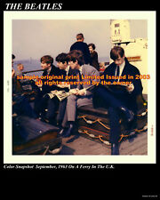 The Beatles 1963 Rare 8 X 10 Of Beatles On A Ferry In The Uk. Limited J.P.G & R