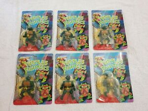 Vintage Turtle Fighters Bootleg Action Figures Unpunched BNIB