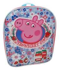 Girls Peppa Pig Home Sweet Home Basic School Bag Nursery Backpack