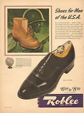 1944 WW2 era AD ROBLEE SHOES ARMY SERVICE SHOES and Civilian  051915
