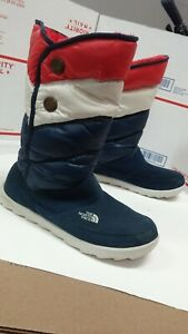Unique North Face Puffer Winter Boots Womens Sz 8 - Fast Ship