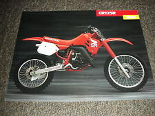 NOS HONDA CR 125 R 1988 SALES BROCHURE VINTAGE EVO ELSINORE RED ROCKET CR125R